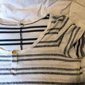 🔥Free People Oversized Striped Shirt